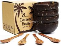 Set Coconut: 2 bowls + 2 Spoons + 2 Forks in Craft box - SCCBS303